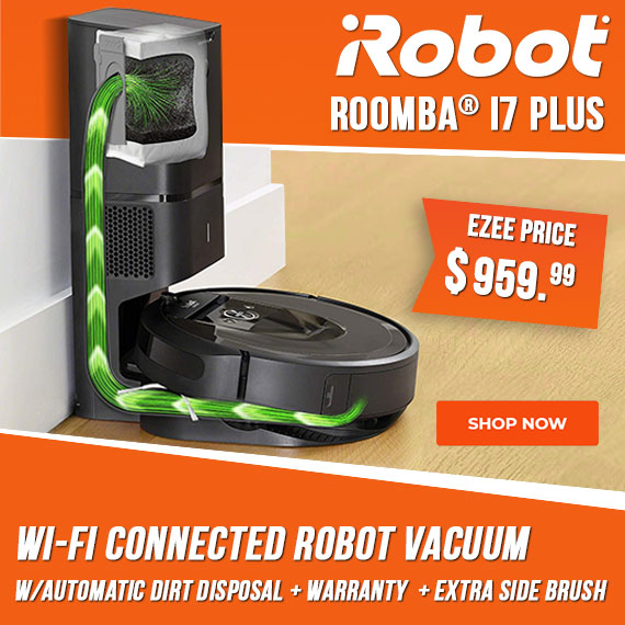irobot roomba i7 plus robotic vacuum cleaner with automatic dirt disposal